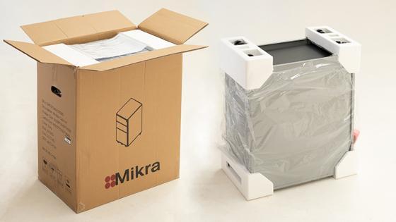 Embalaje de la cajonera móvil angosta de Mikra