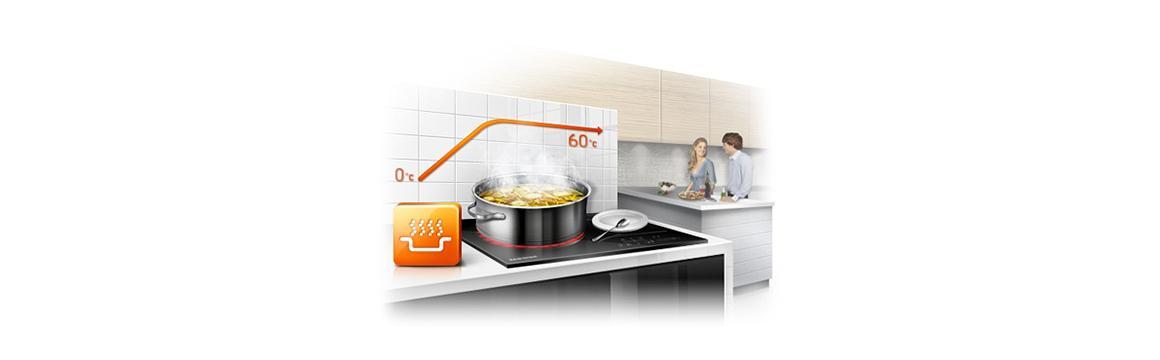 Samsung Encimera Vitrocerámica con Control de temperatura intuitivo