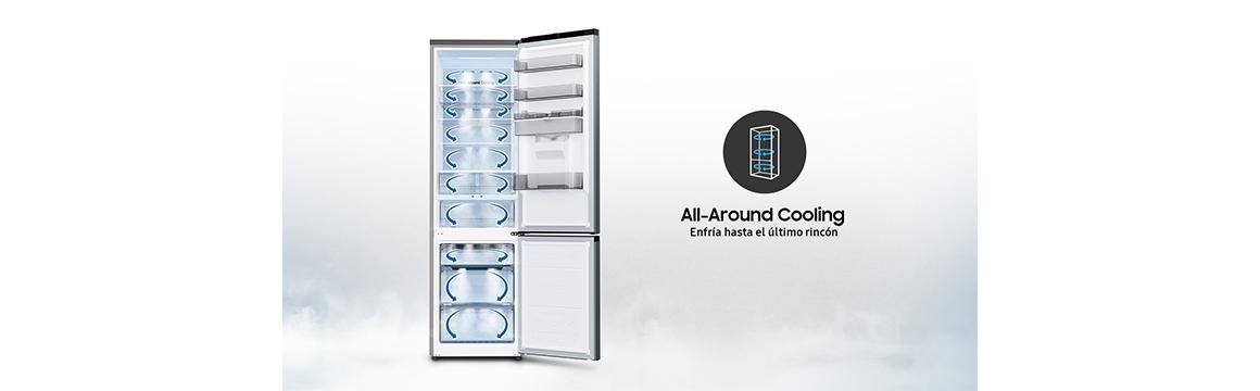 Samsung Bottom Mount de 376L con All Around Cooling