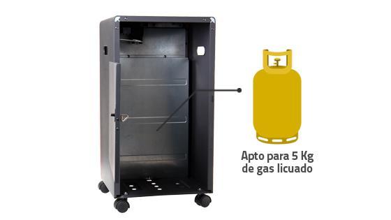 Capacidad estufa cilndro gas