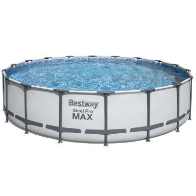 Piscina estructural redonda 5.49 x 5.49 x 1.22m + Cubrepiso + Cobertor + Bomba de Filtrado + Escalera