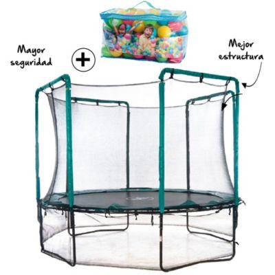 Combo Cama Saltarina 3.60m Do It + Caja de 100 pelotitas de colores Bestway