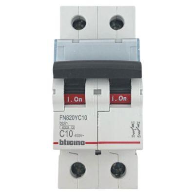 Interruptor Termomagnético 2x10A Bticino
