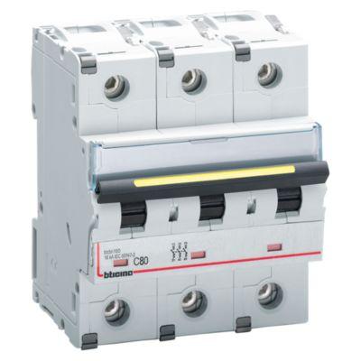Interruptor Tipo Riel Trifásico 3x80A