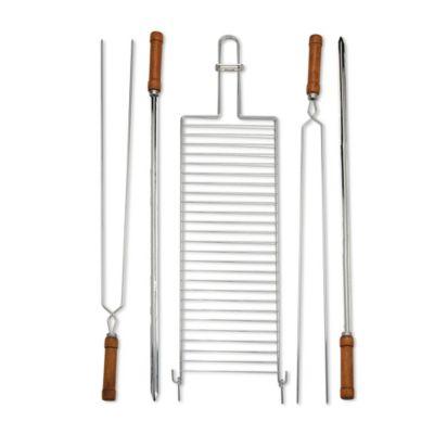 Set 5 utensilios para parrilla