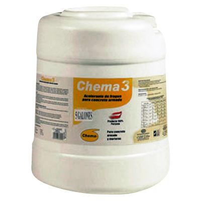 Acelerante fraguado para concreto con fierro 5 gl