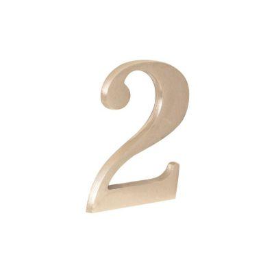 Número níquel satinado 2