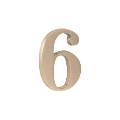 Número níquel satinado 6