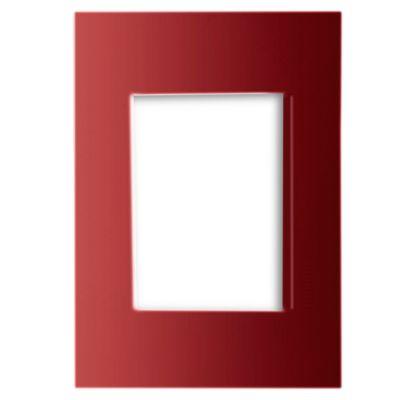 Placa Modular de Metal Rojo