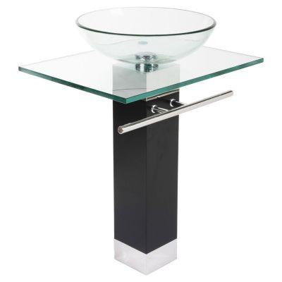 Mueble vanitorio cristal transparente