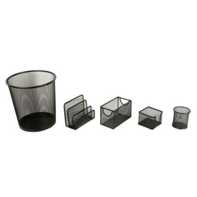 Set papelero 5 piezas negro
