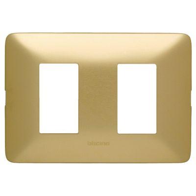 Placa de 2 Módulos Mátix Oro