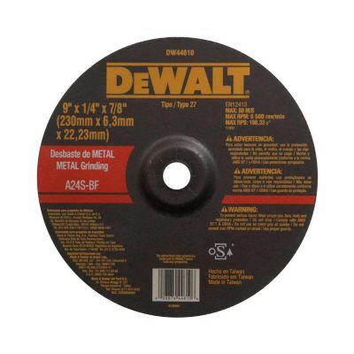 "Disco Desbaste 9"" metal 1/4"""