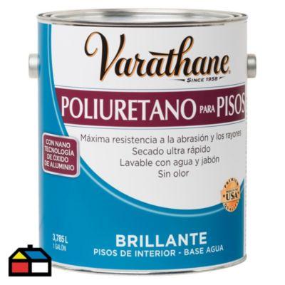Poliuretano para pisos base agua Varathane Brillante 3,785L
