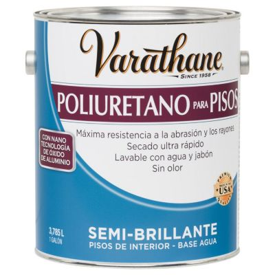 Poliuretano para pisos base agua Varathane Semi-Brillante 3,785L