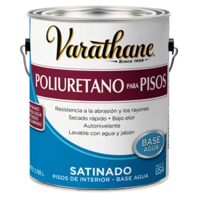 Poliuretano para pisos base agua Varathane Satinado 3,785L