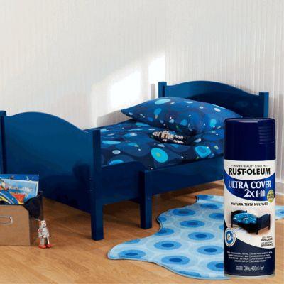 Aerosol Multiusos Ultra Cover 2x Azul Marino Brillante 340 Gr