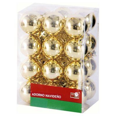Esfera dorada brillante 2cm x24
