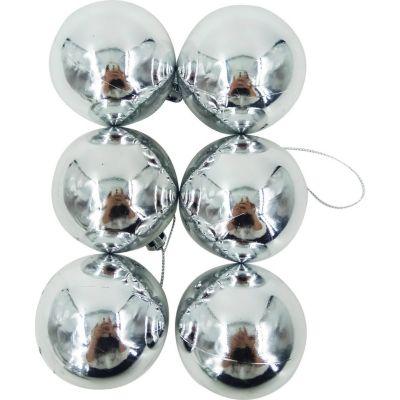 Esfera plateada brillante 6cm x12