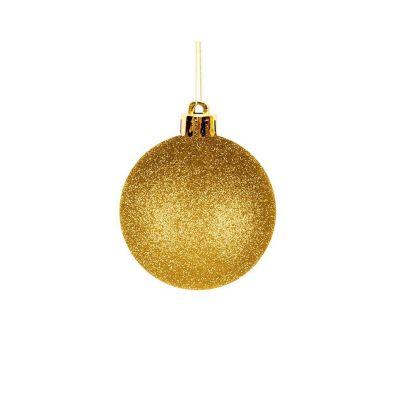 Esfera dorada escarchada 6cm x12