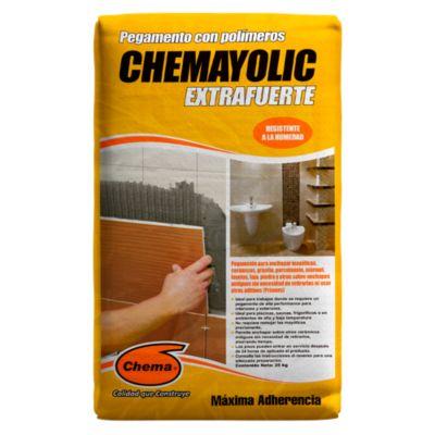 Pegamento en Polvo Chemayolic Gris Extrafuerte 25kg