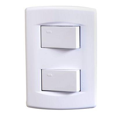 Interruptor doble life blanco