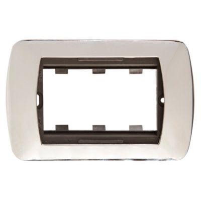 Placa cromo 3 m + soporte selene