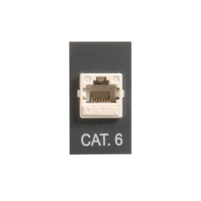 Tomacorriente RJ-45 cat 6 noir