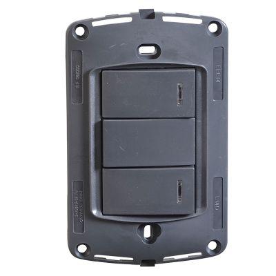 Interruptor doble sin placa