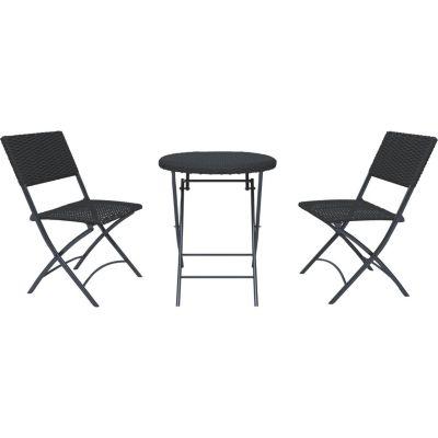 Juego balcón Cannes 2 personas Marron