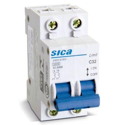 Interruptor Termomagnético 2x15A Sica