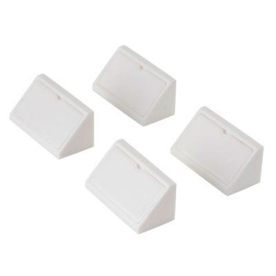 Soporte angular doble blanco