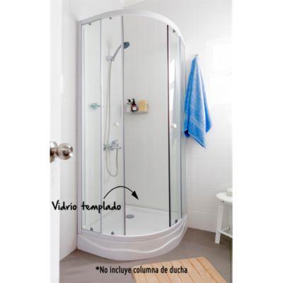 Cabina de ducha redonda con receptáculo 5mm 80x80cm