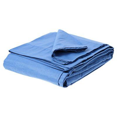 Juego de sábanas 2 plazas azul 132 hilos