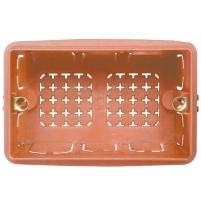 """Caja de Paso Rectangular Naranja 3/4"""""""