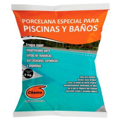 Porcelana Especial para Piscinas y Baños Celeste 5kg