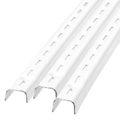 Pilar  ranurado simple 100 cm blanco