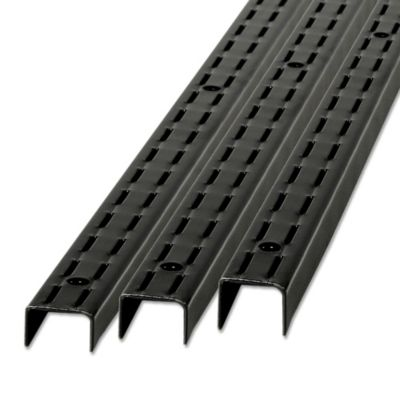 Pilar ranurado acero 96 cm negro