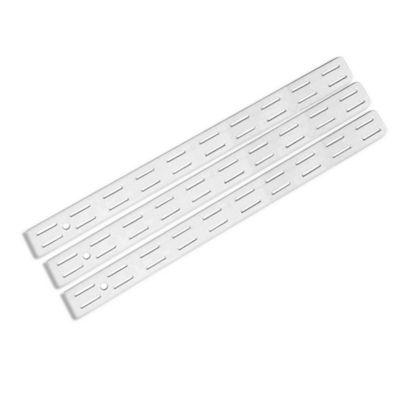 Pilar ranurado doble acero 32 cm blanco