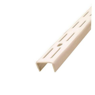 Pilar ranurado doble acero 128 cm blanco