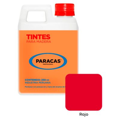 Tinte para madera rojo 250ml