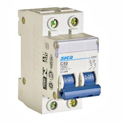 Interruptor Termomagnético 2x50A Sica