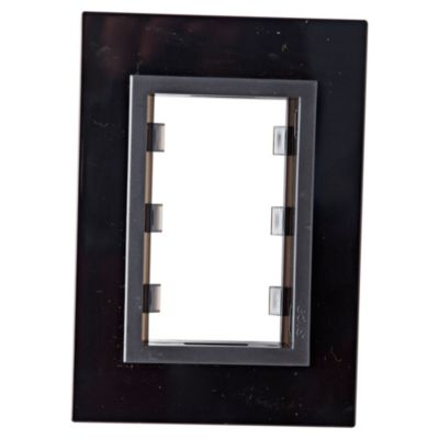 Placa vetro soporte rib negro