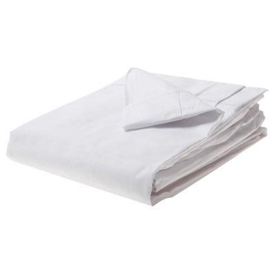 Juego de sábanas 1.5 plazas blanco 132 hilos
