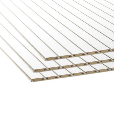 Tablero de MDF Ranurado Blanco 18 mm 1.52 x 2.44 m