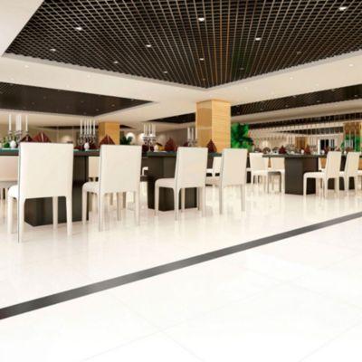 Porcelanato Súper Blanco Liso 60x60 cm para piso o pared