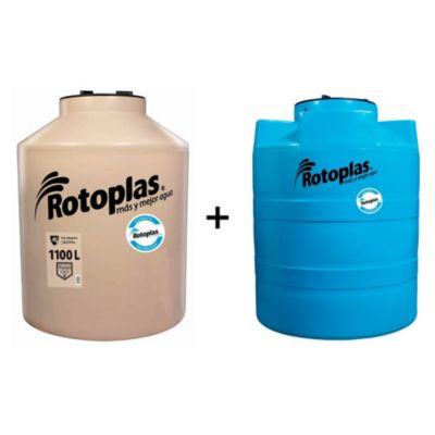Combo Tanque de Agua 1100 L + Cisterna de 1200 L