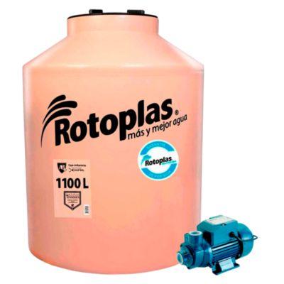 Combo Tanque de Agua 1100 L Rotoplas + Bomba Periférica 0.5 HP Karson
