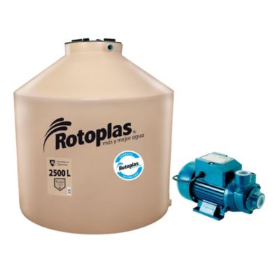 Combo Tanque de Agua 2500 L + Bomba Periférica 0.5 HP