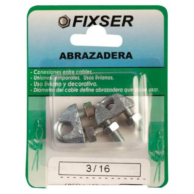 Abrazadera p/cable 3/16 2und 03ABC-K